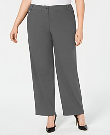 Plus Size Zip-Pocket Pants