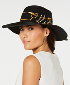 I.N.C. Printed Scarf Adjustable Band Floppy Hat, Created for Macy's