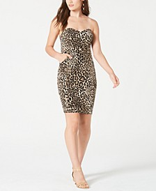 Juniors' Strapless Animal-Print Dress, Created for Macy's