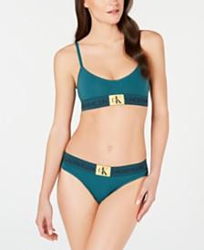 Calvin Klein Monogram Triangle Bra QF4919 & Thong QF4920