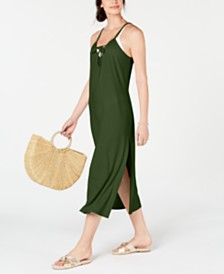 Miken Lace-Up Cover-Up Dress, Created for Macy's