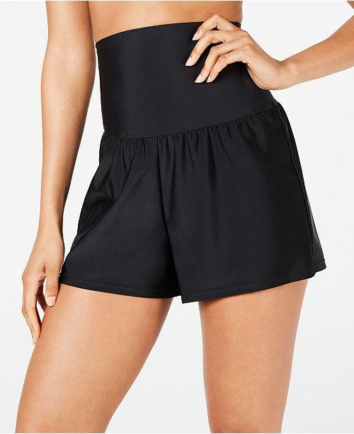 Island Escape Tummy Control Swim Shorts, Created for Macy's