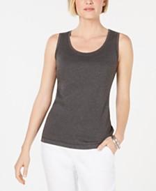 Karen Scott Scoop-Neck Cotton Tank Top, Created for Macy's