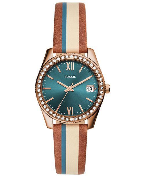 Fossil Women's Scarlette Mini Multicolored Leather Strap Watch 32mm