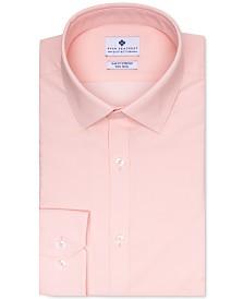 Ryan Seacrest Distinction Men's Ultimate Slim-Fit Stretch Moisture-Wicking Non-Iron Light Orange Dot Dobby Dress Shirt, Created for Macy's