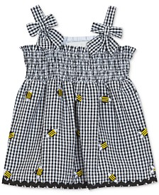 Rare Editions Baby Girls Gingham Bumblebee Dress