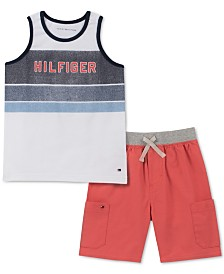 Tommy Hilfiger Baby Boys 2-Pc. Tank Top & Shorts Set