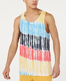 Men's Streaked Tie-Dye Tank, Created for Macy's