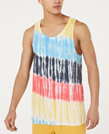 American Rag Men's Streaked Tie-Dye Tank, Created for Macy's