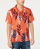 5981ce1b American Rag Men's Textured Tropical Shirt, Created for Macy's