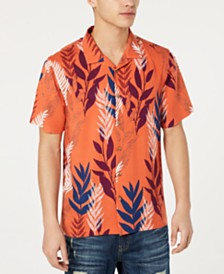 American Rag Men's Textured Tropical Shirt, Created for Macy's
