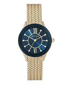 Anne Klein Sunray Dial with Roman Numerals and Swarovski Crystals Watch