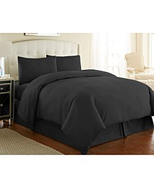 Ultra-Soft Solid Color 3-Piece Duvet Cover Set