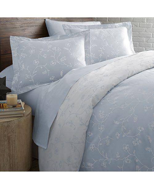 Southshore Fine Linens Boutique Chic Sweetbrier Reversible Cotton Duvet Cover Set, King