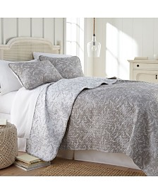 Southshore Fine Linens Winter Brush Lightweight Reversible Quilt and Sham Set, King/California King