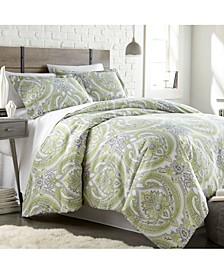Pure Melody Classic Paisley 3 Piece Reversible Comforter Set, Full/Queen