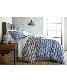 Modern Sphere Printed Duvet Cover and Sham Set, King