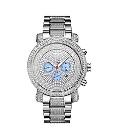 JBW Men's Victor Diamond (1/6 ct.t.w.) Stainless Steel Watch