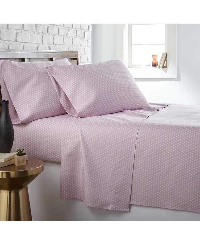 Southshore Fine Linens Trendy Dots 4 Piece Sheet Set, King