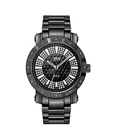 "Men's ""562"" Diamond (1/8 ct.t.w.) Black Ion-Plated Stainless Steel Watch"