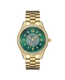 Women's Mondrian Diamond (1/6 ct.t.w.) 18k Gold Plated Stainless Steel Watch