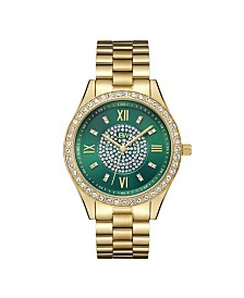 JBW Women's Mondrian Diamond (1/6 ct.t.w.) 18k Gold Plated Stainless Steel Watch