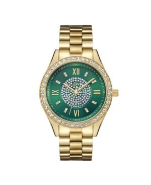 Women's Mondrian Diamond (1/6 ct.t.w.) 18k Gold Plated Stainless Steel Watch