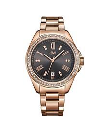 Women's Capri Diamond (1/8 ct.t.w.) 18K Rose Gold Plated Stainless Steel Watch