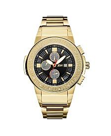 JBW Men's Saxon Diamond (1/6 ct.t.w.) 18k Gold Plated Stainless Steel Watch