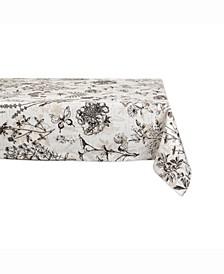 "Botanical Print Table cloth 52"" X 52"""