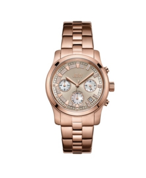 Women's Alessandra Diamond (1/5 ct.t.w.) 18K Rose Gold Plated Stainless Steel Watch