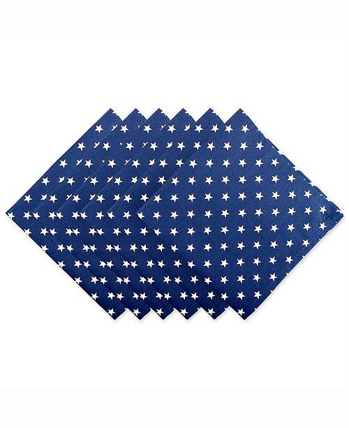Design Imports Patriot Stars Napkin Set of 6