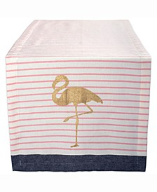 "Golden Flamingo Table Runner 14"" X 108"""