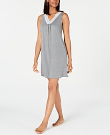 Charter Club Super Soft Knit Lace-Trim Chemise Nightgown, Created for Macy's