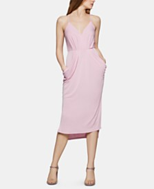 BCBGeneration Draped High-Low Midi Dress