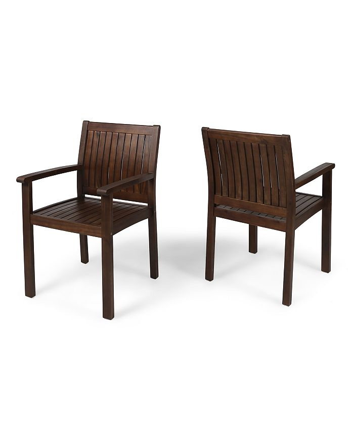 Noble House - Wilson Outdoor Dining Chair, Quick Ship (Set of 2)
