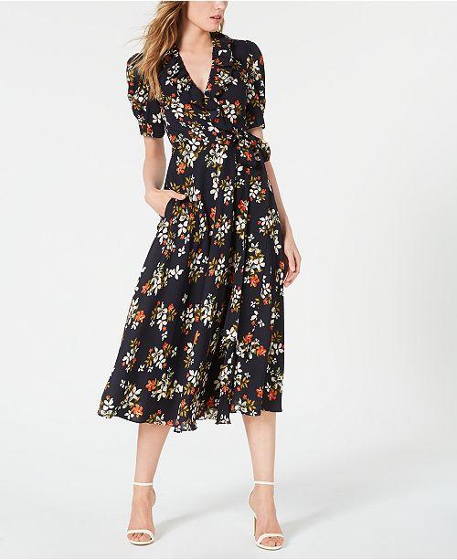 Jill Jill Stuart Floral-Print Wrap Dress