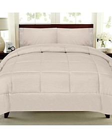 Solid Color Box Stitch Down Alternative Comforters