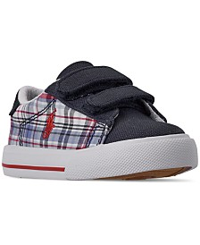 Polo Ralph Lauren Toddler Boys' Easten II EZ Plaid Casual Sneakers from Finish Line