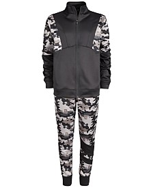 Ideology Big Boys Camo Jacket & Joggers, Created for Macy's
