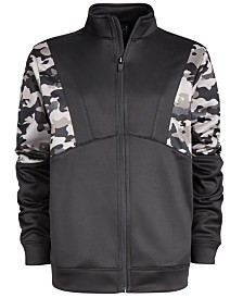 Ideology Big Boys Camo Colorblocked Jacket, Created for Macy's