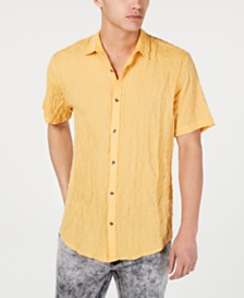 I.N.C. Men's Crinkled Camp Shirt, Created for Macy's