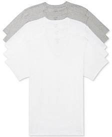 Calvin Klein Men's 5-Pk. Cotton Classics V-Neck Undershirts, Created for Macy's