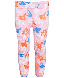 Little Girls Floral-Print Leggings