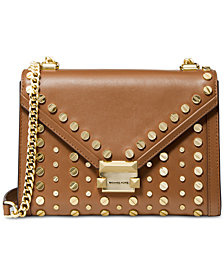 MICHAEL Michael Kors Whitney Studded Leather Shoulder Bag