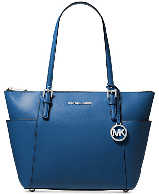 04493caa3763fd Michael Kors Jet Set Large Crossgrain Leather Tote & Reviews - Handbags &  Accessories - Macy's