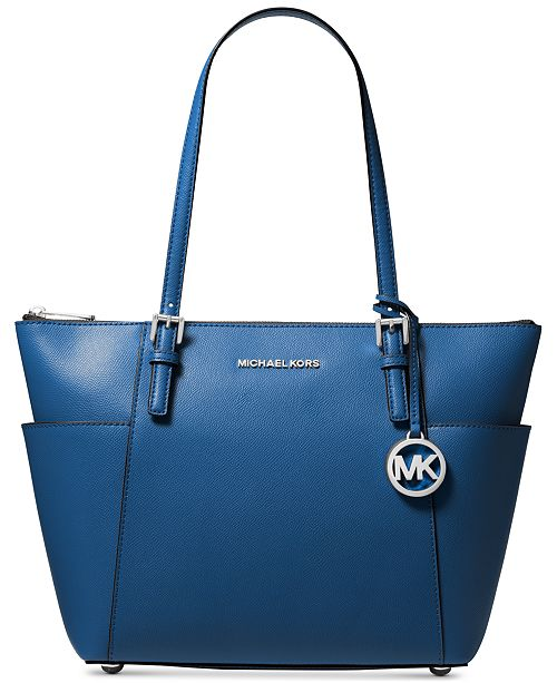 bc26aa157f9f Michael Kors Jet Set Large Crossgrain Leather Tote & Reviews ...