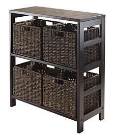 Granville 5Pc Storage Shelf with 4 Foldable Baskets