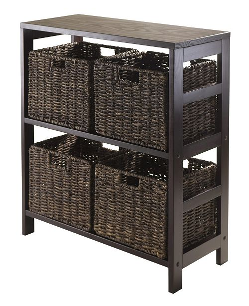 Winsome Granville 5Pc Storage Shelf with 4 Foldable Baskets