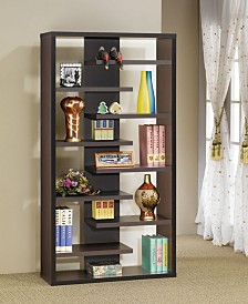 Haven Bookcase with 8 Staggered Shelves